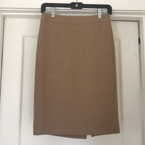 J.crew No. 2 Pencil Skirt Double Serge Wool